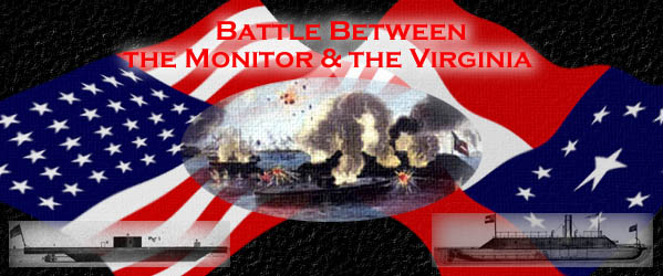 Battle Between the Monitor & the Virginia